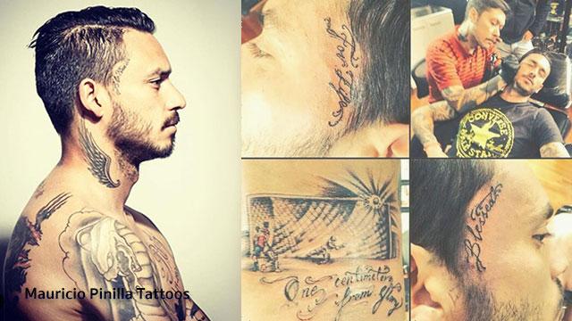 Mauricio Pinilla Tattoos รอยสักสุดเทห์