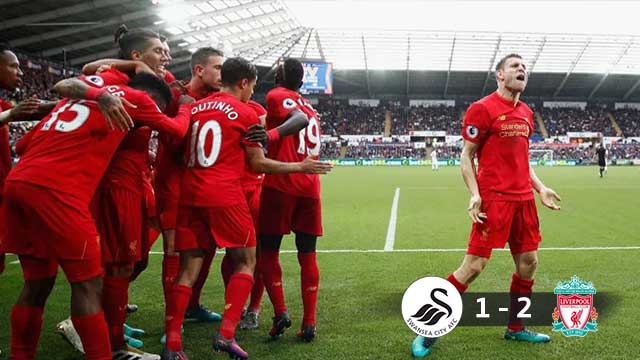 Swansea 1-2 Liverpool 2016