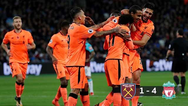 West Ham United  1-4 Liverpool 2017