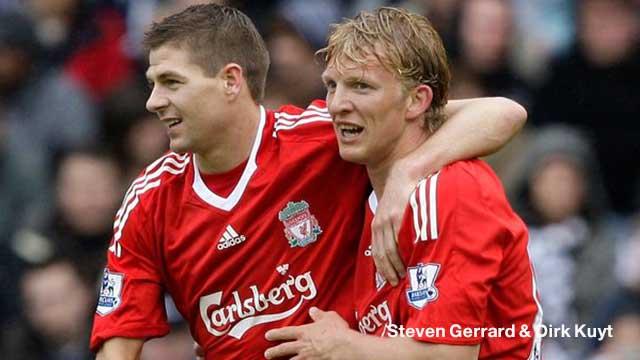 Steven Gerrard & Dirk Kuyt