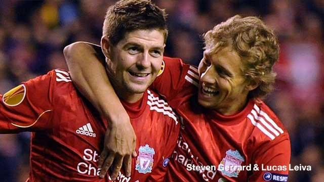 Steven Gerrard & Lucas Leiva