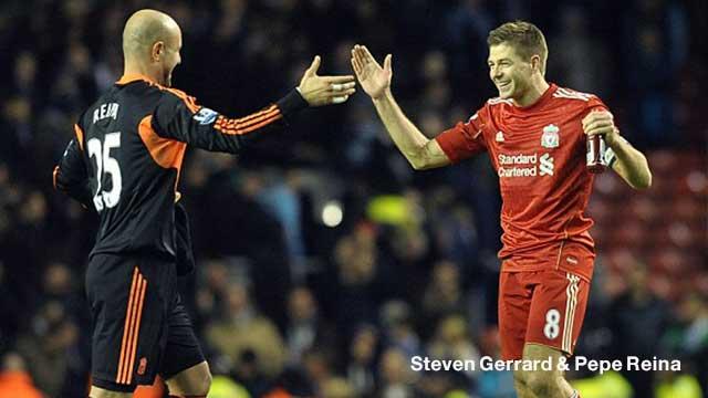 Steven Gerrard & Pepe Reina  11 ผู้เล่นชุด เพื่อนกัปตัน