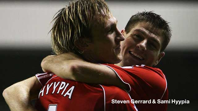 Steven Gerrard & Sami Hyypia